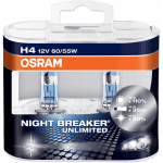 Set 2 becuri H4 12V 60/55W P43t Osram Night Breaker Unlimited