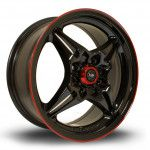 Janta Aliaj Rota Wheels AutoX R15 6.5J 4x100 ET40 BlackRLip